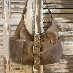 Patricia Nash Urbino Cobblestone Grey/Brown Bag